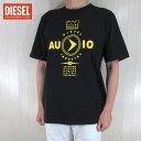 ディーゼル DIESEL メンズ Tシャツ 半袖 カットソー T-JUST-Y2/900/ブラック 黒 サイズ:L