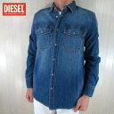 ディーゼル DIESEL メンズ 長袖 シャツ カジュアルシャツ D-ROOKE OPASD/01/ブルー サイズ:S/L