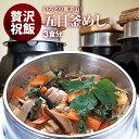 国産 | 五目釜飯 の具 ( 3人前 )| 水を使わず即席で美味しい | 早炊き米 ・ 具 入り 釜めしの素 のセット |料亭の味 炊き込みご飯