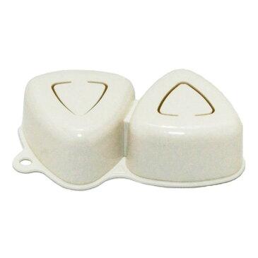[お買い物マラソン 限定クーポン付] 日本製 | 抗菌加工 | ダイヤカット | おにぎり型抜き 2ヶ取 | 簡単便利 おにぎり型 | 三角 おむすび型