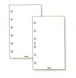 System Handbook mini 6 hole size value refills (white)
