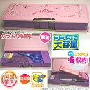 小学生女子に人気のかわいい筆箱刺繍2ドアマグネット式