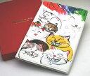 大人気の猫のブランドのブックカバー。マンハッタナーズ 笑い猫 ブックカバー 革製 文庫本サ...