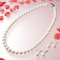 花珠本真珠からさらに選りすぐられた真珠!彩美珠真珠8.5-9mm花珠本真珠(彩美珠)2点セット(45cm...