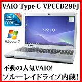 【送料無料】SONY VAIO Cシリーズ VPCCB29FJ【Core i5/4GB/640GB/ブルーレイ/15.5型/Windows7/無線LAN/Webカメラ/Bluetooth】【中古】【中古パソコン】【ノートパソコン】