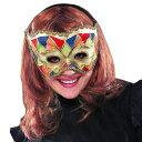 パーティーカラーアイマスク ドミノマスク ベネチアンマスク【アイマスク 仮面 舞踏会 マスカレード パーティーグッズ】マジックナイト RB4278