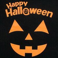 ハロウィンTシャツパンプキンブラックハロウィンスタッフTシャツ男女兼用【仮装コスプレかぼちゃ】