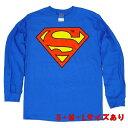 スーパーマン Classic ロゴ ロングスリーブ【長袖 Tシャツ SUPERMAN DCコミックス アメコミ】S M L サイズ 送料一律590円 ネコポス可 1着350円 マジックナイト SM259AL