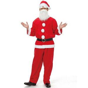 サンタクロース メンズ 大人用 男性用 Mens 白い手袋プレゼント【コスチューム クリスマス サンタさん サンタ衣装 サンタ服仮装 変装】マジックナイト RQ1559
