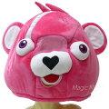 ピンクのくまちゃんデカヘッド