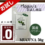 《国産》Mucuna ムクナ豆粉(ムクナパウダー) お試しサイズ50g (メール便のみ(送料無料))