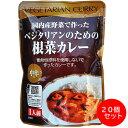 桜井食品 国内産野菜で作ったベジタリアンのための根菜カレー 中辛おまとめ買い(200g×20個)【送料無料】