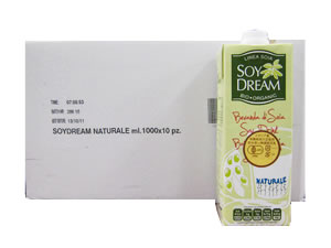 有機JAS認定 イタリア産 有機栽培大豆使用 無調整豆乳SOY DRINK ソイドリンク (SOY DREAM ソイドリーム) おまとめ買い(1000ml×20本) 【同梱不可】