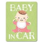 赤ちゃん笑顔おすわり【BABYINCAR】車マグネットステッカー
