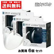 近大マスク6個セットオール近大で開発した飛沫防止マウスシールド送料無料KINDAIMASK6個