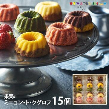 ホシフルーツ 果実のミニョン・ド・クグロフ 15個 HFMK-15 (-90016-06-) (t3)   内祝い ギフト お菓子 人気 出産内祝い 結婚内祝い 快気祝い