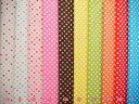 《22%OFF!!》入園入学にもピッタリ♪【定番生地】Color Basic(カラーベーシック)水玉 カラフ...