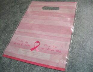 【花材】資材 東京リボン ピンクリボン運動・キャリーバッグ1袋50枚入り ピンク