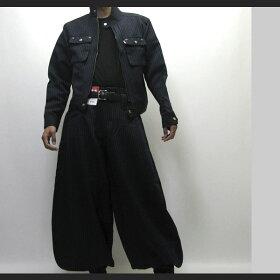 【寅壱/寅一】ピンストライプライダースジャケット&超超ロング八分ズボン上下セット4309シリーズ14.濃コン(4309s554418)