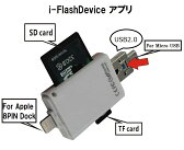 i-FlashDevice 3in1 8P/micro USB/USB2.0 to Micro SD/TF/SD カードリーダー For iOS&Android OTG&PC suport 【iOS9.3】iPad Pro/iPad air/air2/iPadmini1/2/3/4/iPhone6/6S/6 plus/6S Plus/5/5C/5S&Android OTG series/Galaxy/Xperia&PC USB2.0