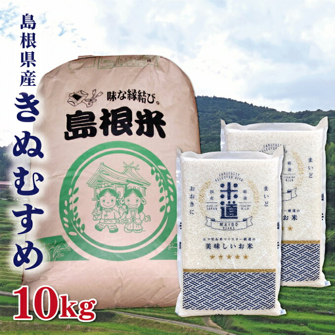 米 10kg 送料無料 白米 きぬむすめ 令和二年産 島根県産 10キロ お米 玄米...