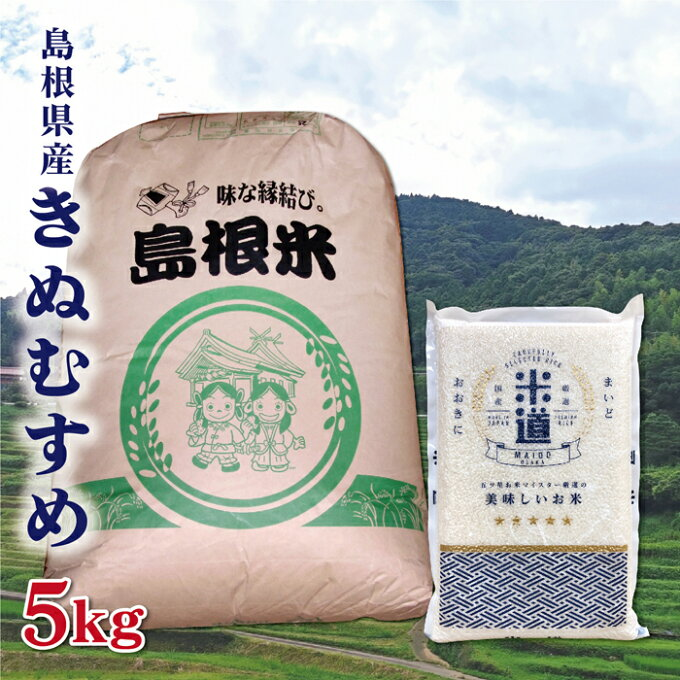 米 5kg 送料無料 白米 きぬむすめ 令和二年産 島根県産 5キロ お米 玄米 ご...