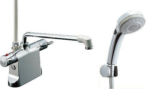 【割引クーポンがお得!】水栓金具 INAX BF-B646TSBW(300)-A85 サーモスタット付シャワーバス デッキ・シャワータイプ 乾式工法 逆止弁付 一般地 [□]:まいどDIY