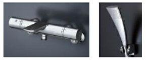 【最安値挑戦中!SPU他7倍〜】TOTO TBV01S05J 壁付サーモスタット混合水栓(エアインめっき) [■]:まいどDIY