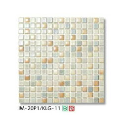 【最安値挑戦中!最大25倍】LIXIL 【IM-2060P1-KLG-11 バラ】 20mm角片面小端施釉ネット張り インテリアモザイク カレイドグレイズ