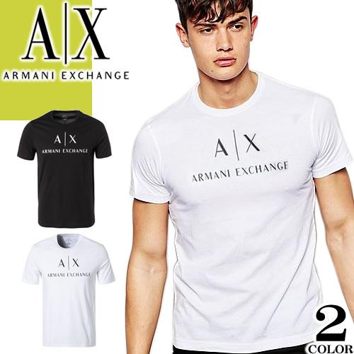 アルマーニエクスチェンジARMANIEXCHANGETシャツメンズ半袖2021年春夏 ブランド大きいサイズクルーネック丸首プリン