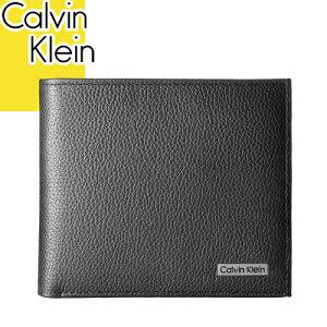 カルバンクライン 財布 メンズ レディース 二つ折り ブランド 薄い 本革 カードがたくさん入る スキミング防止 コンパクト 黒 ブラック Calvin Klein 79215 [メール便発送]