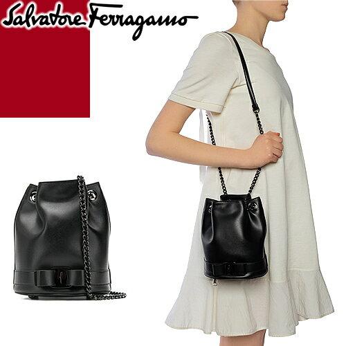 レディースバッグ, ショルダーバッグ・メッセンジャーバッグ  Salvatore Ferragamo VARA BOW BUCKET BAG 21H491 709078