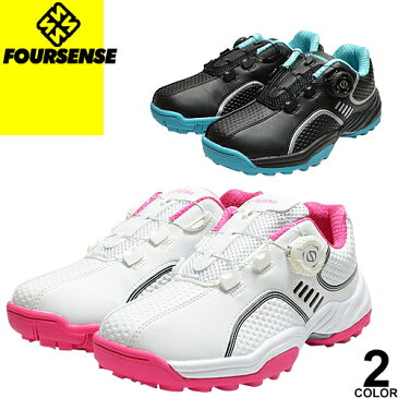 フォーセンス FOURSENSE ゴルフシューズ スポーツシューズ スニーカー レディース スパイクレス ダイヤル式 靴 スリッポン 白 黒 ピンク おしゃれ 歩きやすい 履きやすい ブランド Easy FOSN 002L