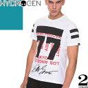 [最終SALE] ハイドロゲン Hydrogen Tシャツ メンズ 半袖 2019年新作 白 黒 ブランド 大きいサイズ クルーネック 丸首 プリント ロゴ おしゃれ 240628 [ネコポス発送]