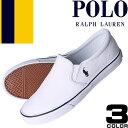 ポロ ラルフローレン Polo Ralph Lauren スニーカー レディース スリッポン 靴 ホワイト ブラック 白 黒 紺 キャンバス