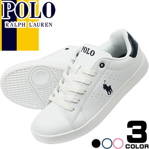 ポロ ラルフローレン Polo Ralph Lauren スニーカー レディース 白 紺 ホワイト ネイビー ファッシ...