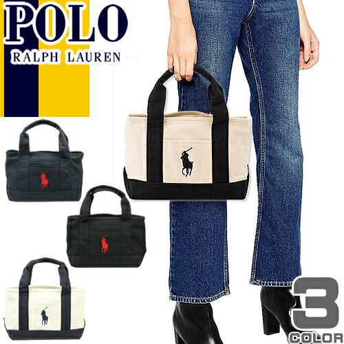 ポロ ラルフローレン Polo Ralph Lauren トートバッグ ビッグポニー レディース キャンバス a4 ミ...