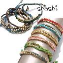 シャシ ブレスレット アンクレット 2本セット Shashi 2R Nugget Bracelet ワカミ wakami チャンルー CHA...