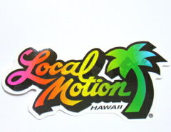 【ハワイアン雑貨】【ハワイ雑貨】ハワイのサーフショップ Local Motion ステッカーメール便送...