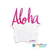 ハワイ ステッカーAloha is FREE(ピンク)【ハワイアン雑貨】【ハワイ雑貨】【メール便対応可】
