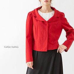 【春物新作】■大きめな衿がキュートな★★さらさらコーティングの長袖一重ジャケット3823211