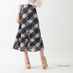 【春・夏物】透かしアーガイル柄6枚はぎ裾斜め切替スカート翌日配送「あす楽」対応315605P11Apr15