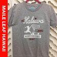 【送料無料】HAPPY HALEIWA Tシャツ 半袖 グレー プッシュカートガール HAWAII トロピカル ハッピーハレイワ ハワイ アロハ 夏 レディース