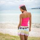 【送料無料】オリジナル ハワイ タイダイ スカート 染色 マルチ ミニ レーヨン ビーチファッション リゾートスタイル レディース