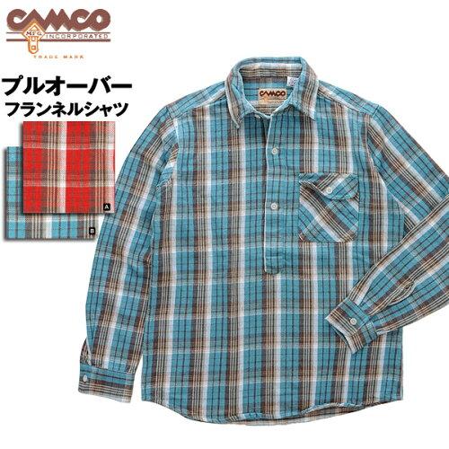 CAMCO プルオーバー ネルシャツ 長袖シャツ メンズ
