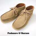 送料無料 PADMORE&BARNES【パドモアアンドバーンズ】スウェード ワラビー チャッカブーツ 靴 シューズ メンズ(男性用)【smtb-m】