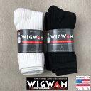 WIGWAM【ウィグワム】 S1077 3P SOCKS 3足パック クルーソックス 靴下 Mサイズ 23cm〜27.5cm対応 メンズ(男性用)