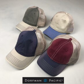 2個購入で送料無料DORFMANPACIFICCOMPANY【ドーフマンパシフィックカンパニー】BC2462トーンメッシュキャップ帽子メンズ(男性用)