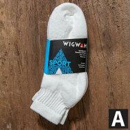 アメリカ製3点購入で送料無料WIGWAM【ウィグワム】S1168Quarter3足パックソックスMサイズ23cm〜27.5cm対応メンズ(男性用)