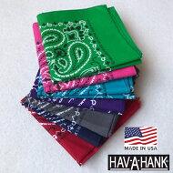 アメリカ製HAV-A-HANK【ハバハンク】コットンペイズリーバンダナメンズレディース
